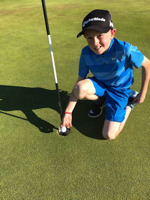 Conor Coleman's hole in one at the 17th at Lurgan